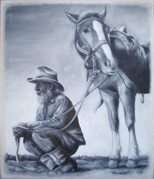 Les Vieux Compères - An elderly and his horse