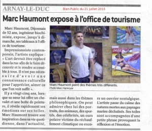 Exhibition of Marc Haumont in Arnay-le-Duc